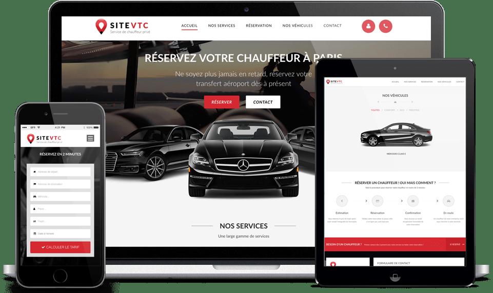 site internet responsive vtc
